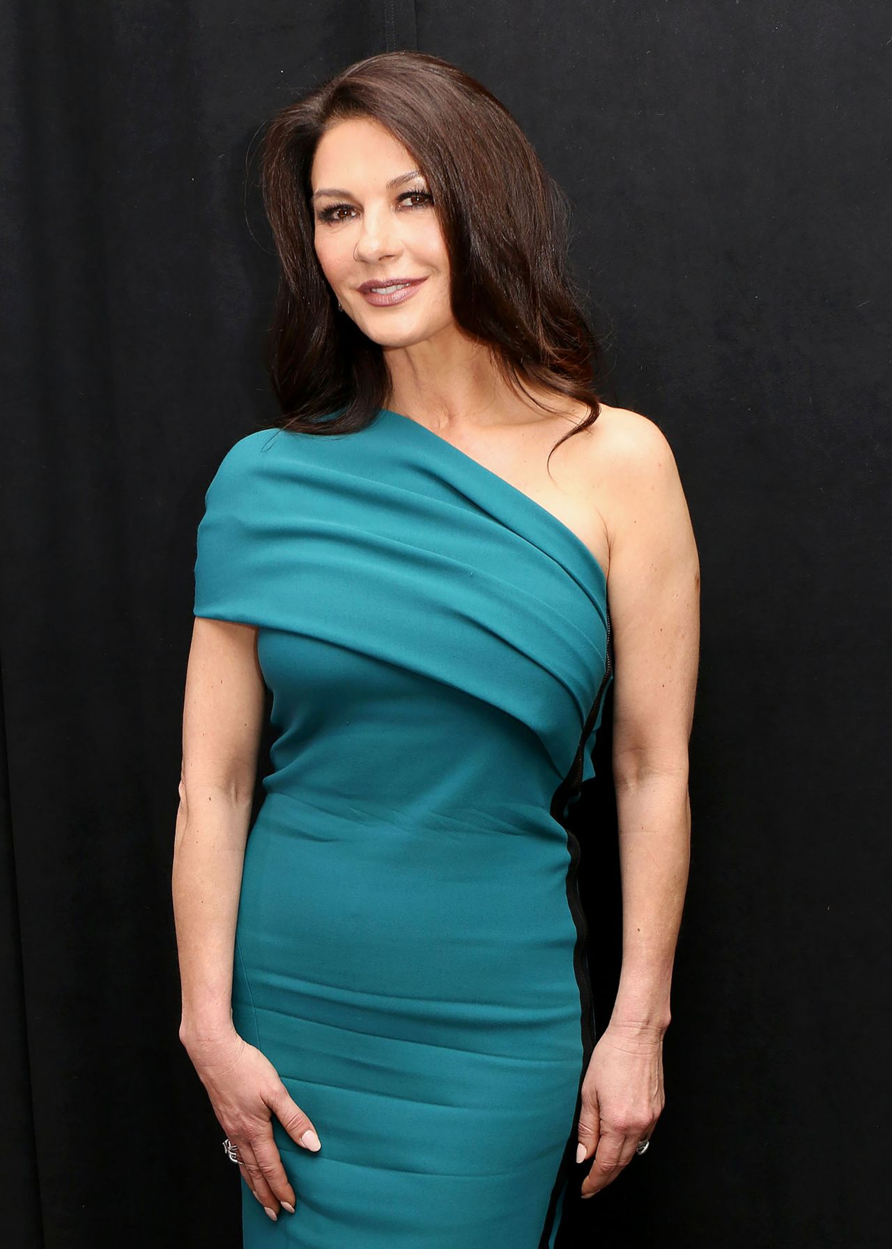 Catherine Zeta Jones Attends Feud Press Conference In