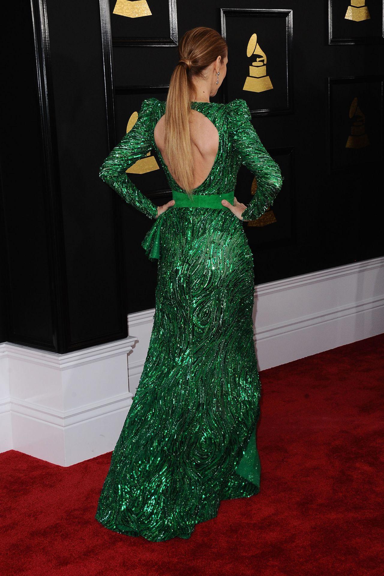 Celine Dion On Red Carpet Grammy Awards In Los Angeles 2
