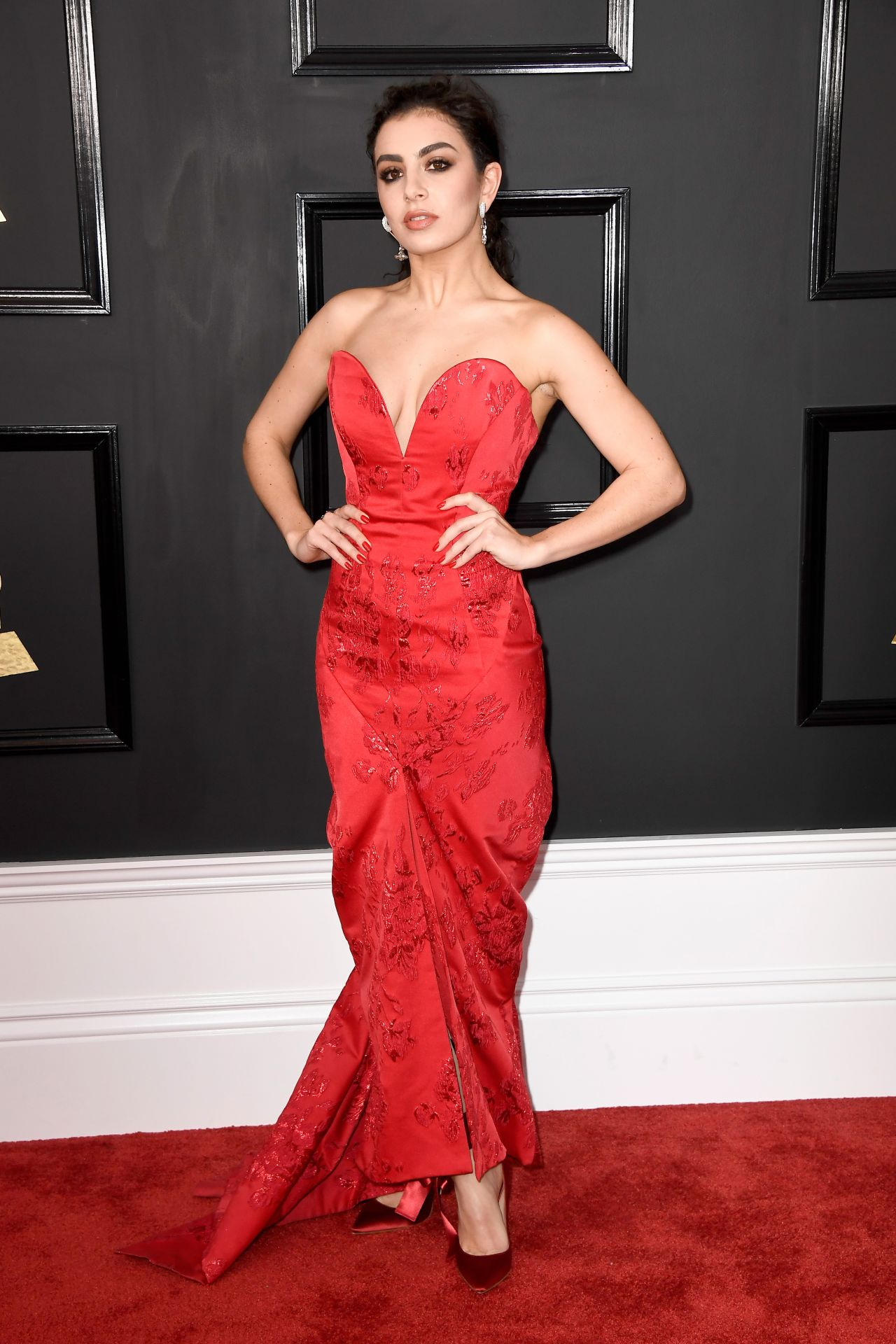 Demi Lovato on Red Carpet - GRAMMY Awards in Los Angeles 2
