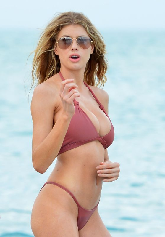Charlotte McKinney - Beach Bikini Fun in Miami, FL 2/19/ 2017