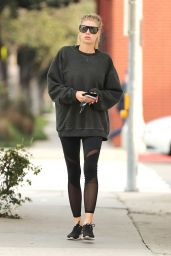 Charlotte McKinney in Spandex - Visiting an Office in Santa Monica 2/2/ 2017
