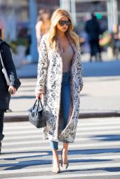 Charlotte McKinney - Shows Off a Low Cut Top in New York 2/6/ 2017