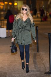 Charlotte McKinney Travel Outfit - JFK Airport in New York 2/7/ 2017