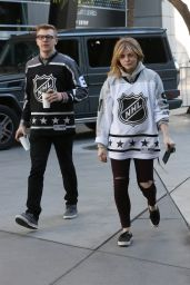 Chloe Moretz - Going to the NHL All Star Game in Los Angeles 1/29/ 2017