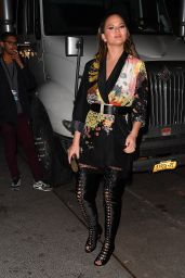Chrissy Teigen Arriving at SI 2017 Launch Event in NYC 2/16/ 2017