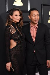 Chrissy Teigen at GRAMMY Awards in Los Angeles 2/12/ 2017
