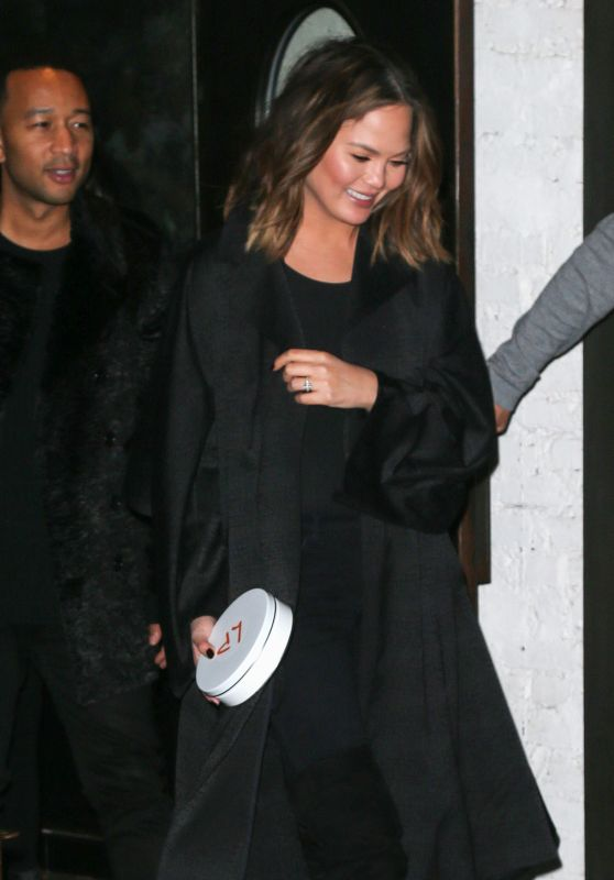 Chrissy Teigen - Out in NYC 2/15/ 2017