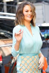 Chrissy Teigen Walks Out in a Sheer Top - NYC 2/16/ 2017