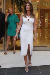 Cindy Crawford - Cuts a Ribbon at Omega Watches in Martin Place, Sydney 2/9/ 2017