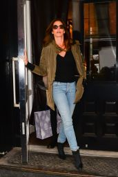 Cindy Crawford Street Style - Leaving The Mercer Hotel in NYC 2/15/ 2017