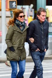 Cindy Crawford Street Style - Out in NYC 2/13/ 2017