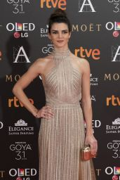 Clara Lago – Goya Cinema Awards at the Marriott Auditorium in Madrid 2/4/ 2017