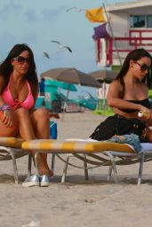Claudia Romani and Elisa Scheffler at Miami Beach 2/7/ 2017