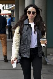 Crystal Reed in Leggings - Grabs Two Coffees in Los Angeles  2/21/ 2017