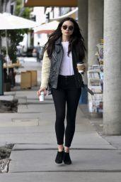 Crystal Reed in Leggings - Grabs Two Coffees in Los Angeles  2/21/ 2017