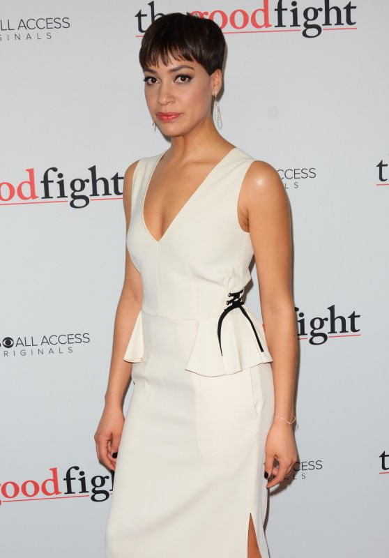 Cush Jumbo – 'The Good Fight' Premiere in New York 2/8/ 2017