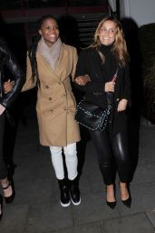 Daisy Lowe, Oti Mabuse and Louise Redknapp Night Out 2/24/ 2017