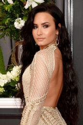 Demi Lovato on Red Carpet – GRAMMY Awards in Los Angeles 2/12/ 2017
