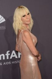 Donatella Versace at amfAR New York Gala Red Carpet, 2/8/ 2017