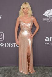 Donatella Versace at amfAR New York Gala Red Carpet, 2/8/ 2017