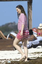 Drew Barrymore on a Beach in Mexico 2/19/ 2017