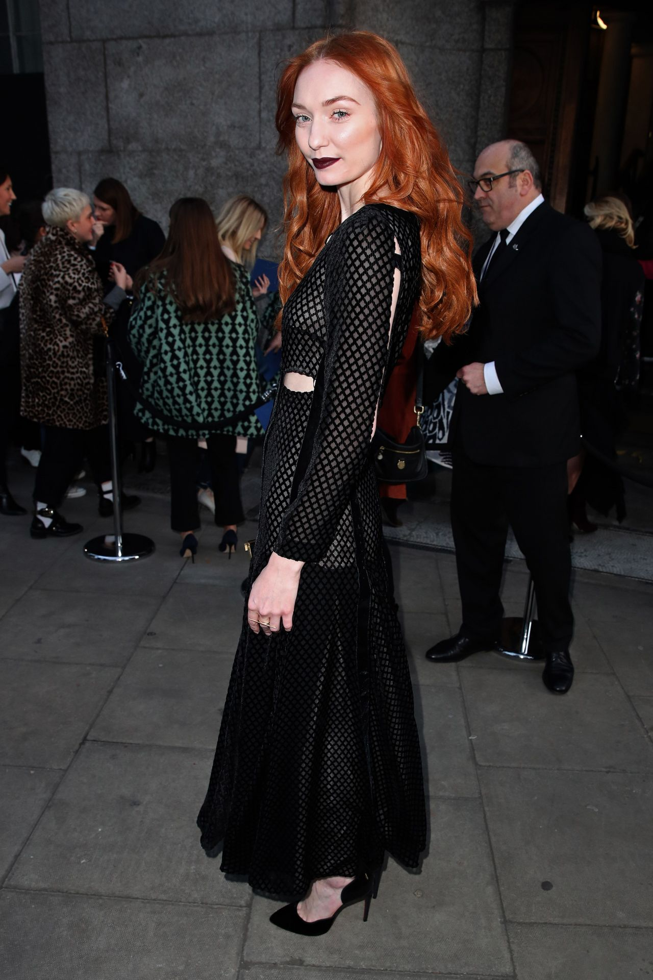 Eleanor Tomlinson London Fashion Week 2 18 2017