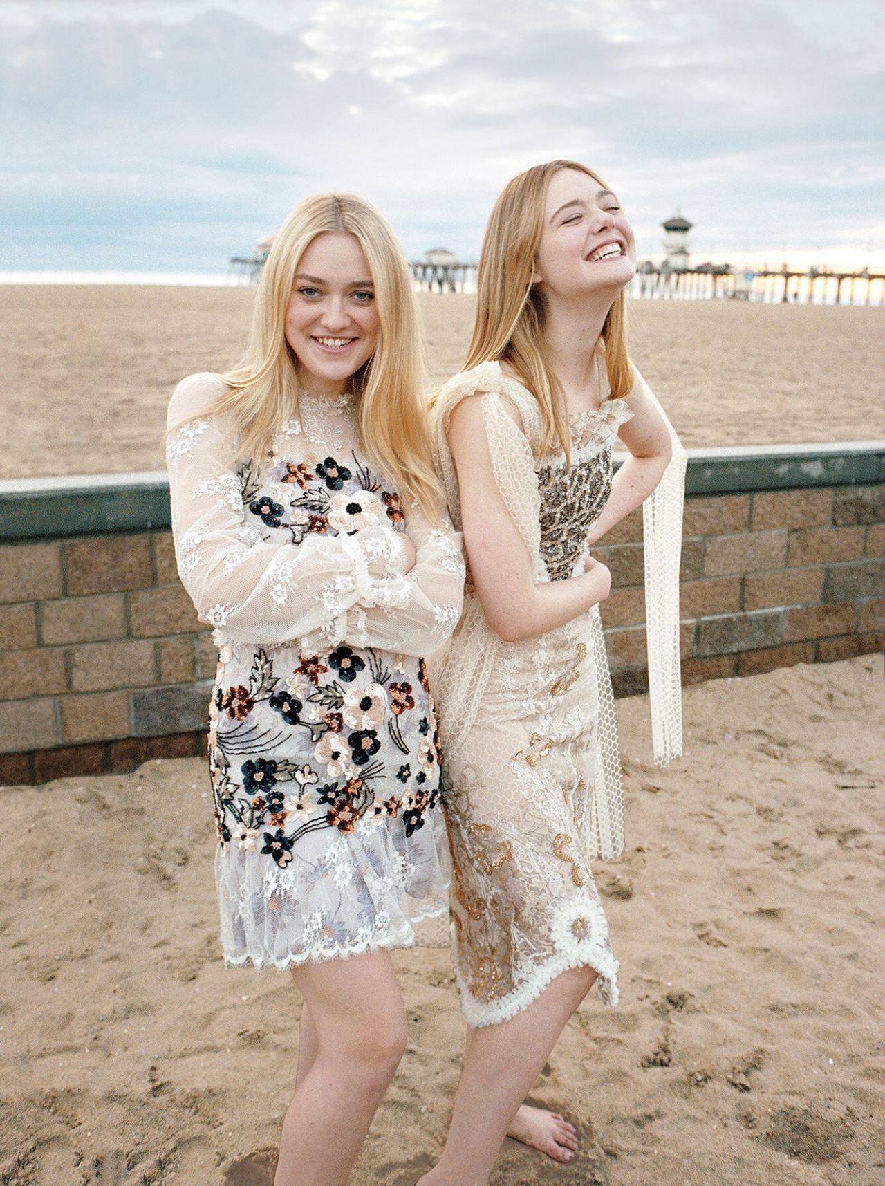 Elle Fanning & Dakota Fanning – Photoshoot for Vogue March 2017 Dakota Fanning