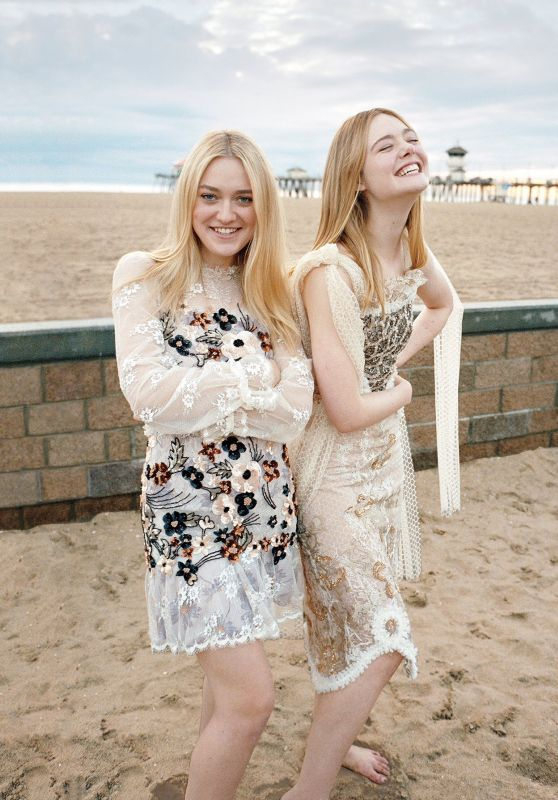 Elle Fanning & Dakota Fanning - Photoshoot for Vogue March 2017