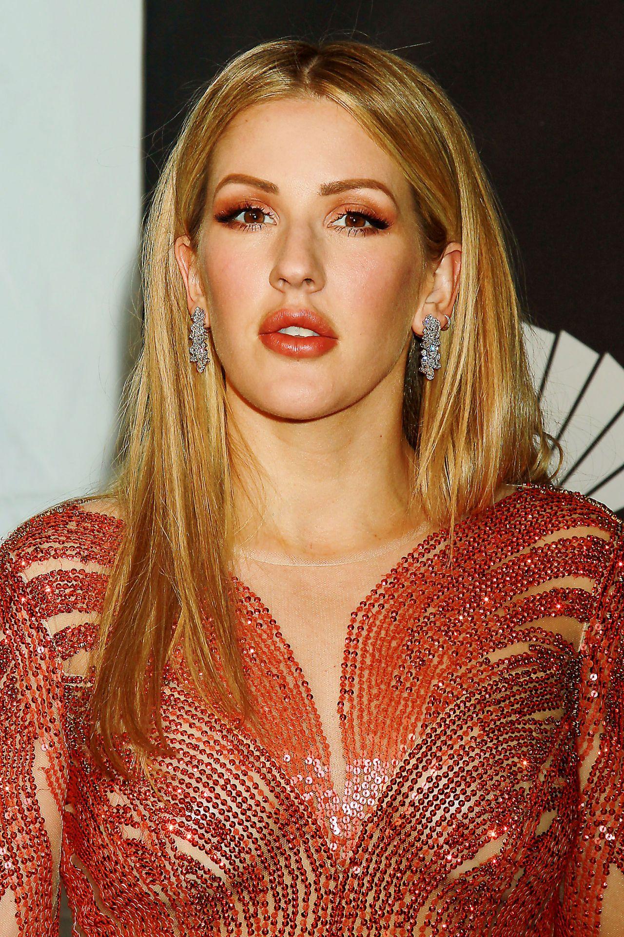 Ellie Goulding on Red Carpet – amfAR New York Gala in NYC ...