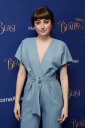 Ellise Chappell at 'Beauty and the Beast' Screening in London, UK 2/23/ 2017