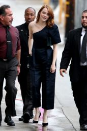 Emma Stone - Arriving at Jimmy Kimmel Live! in Los Angeles 2/6/ 2017