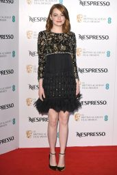 Emma Stone – BAFTA Nespresso Nominees' Party, London, UK 2/11/ 2017