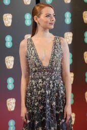 Emma Stone on Red Carpet at BAFTA Awards in London, UK 2/12/ 2017