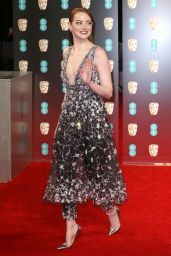 Emma Stone on Red Carpet at BAFTA Awards in London, UK 2/12/ 2017