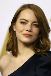 Emma Stone – Oscar Nominee Luncheon in Los Angeles 2/6/ 2017