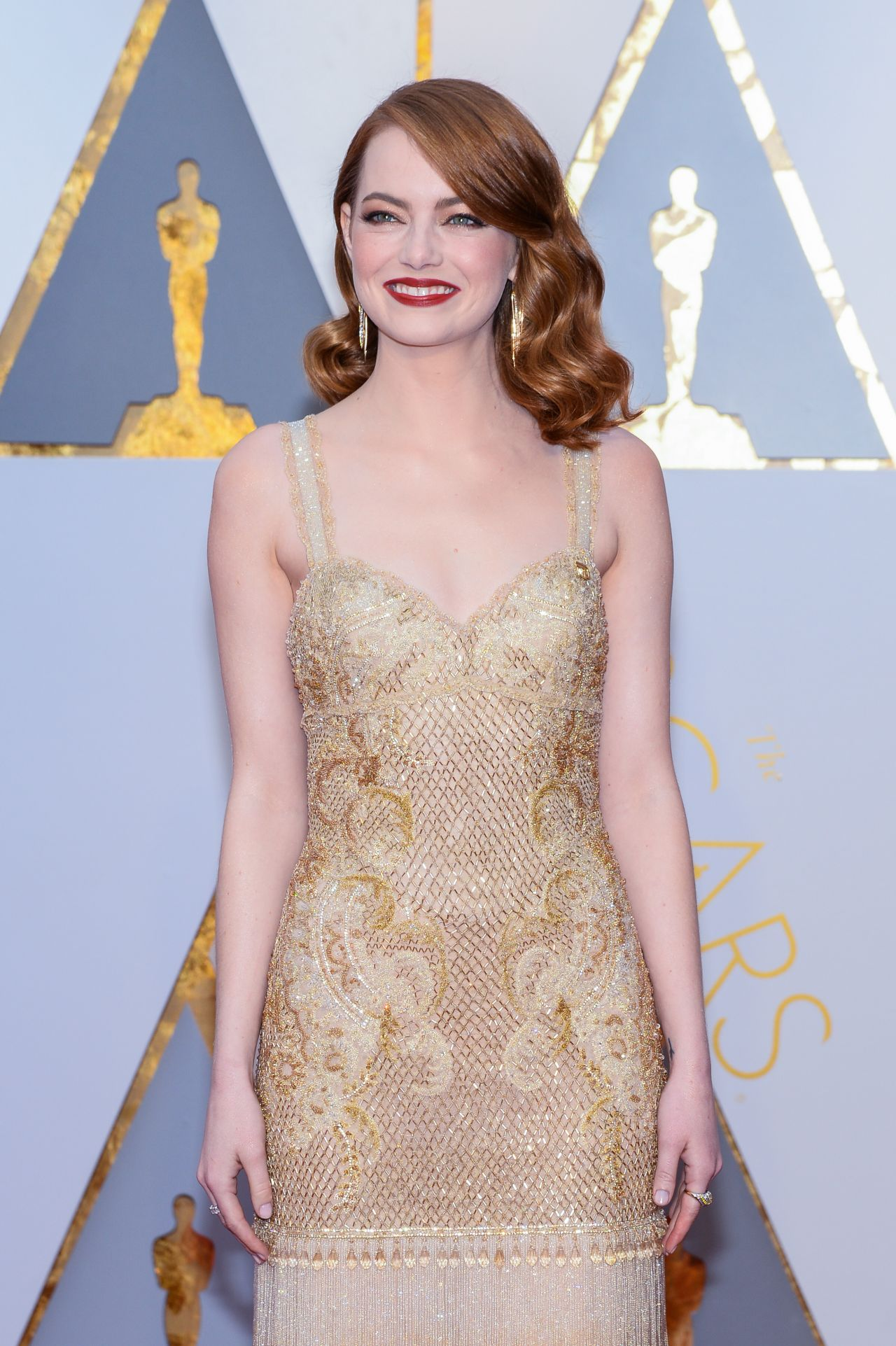 Emma Stone Oscars 2017 Red Carpet In Hollywood