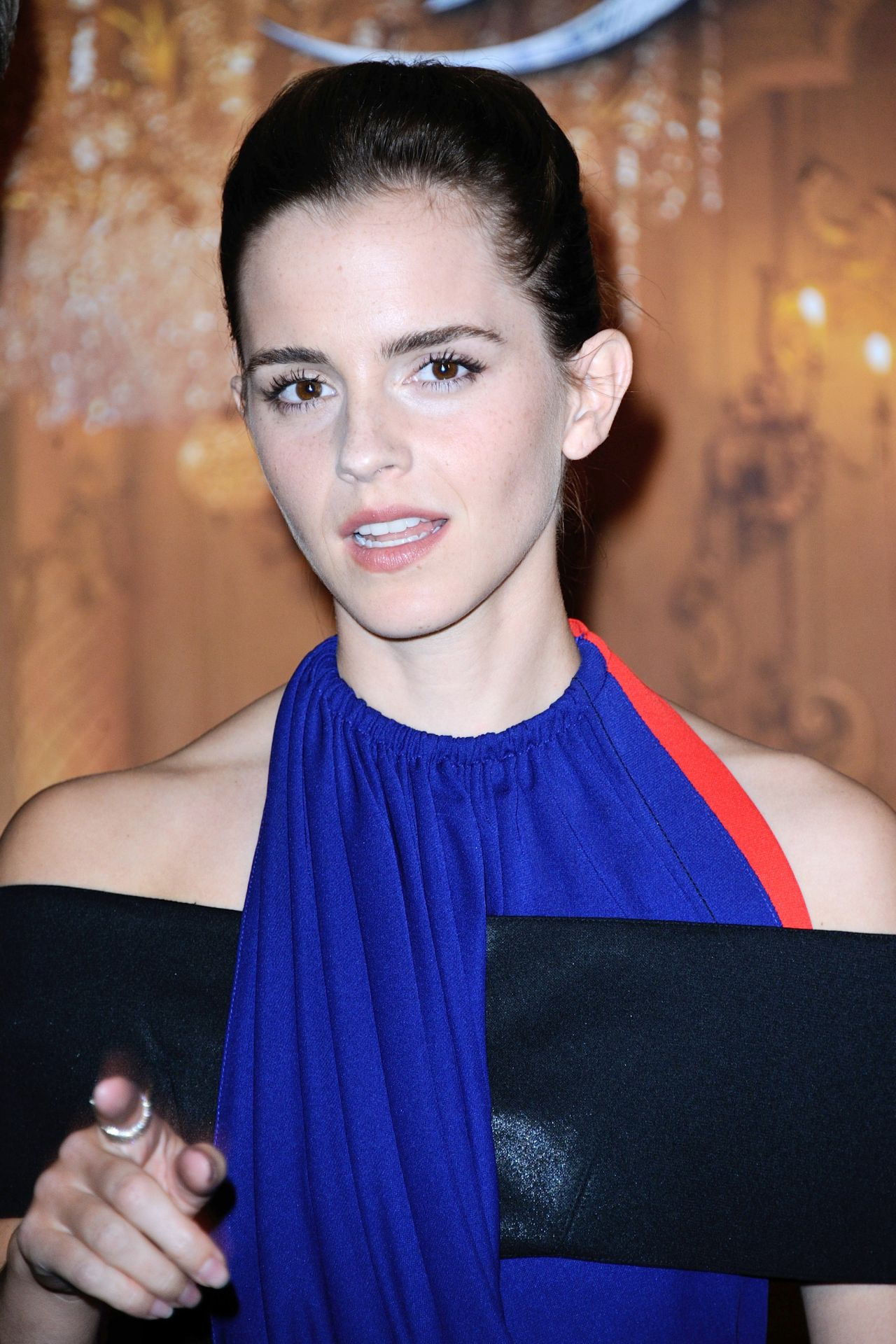 Emma Watson Beast And Beauty Photocall At Hotel