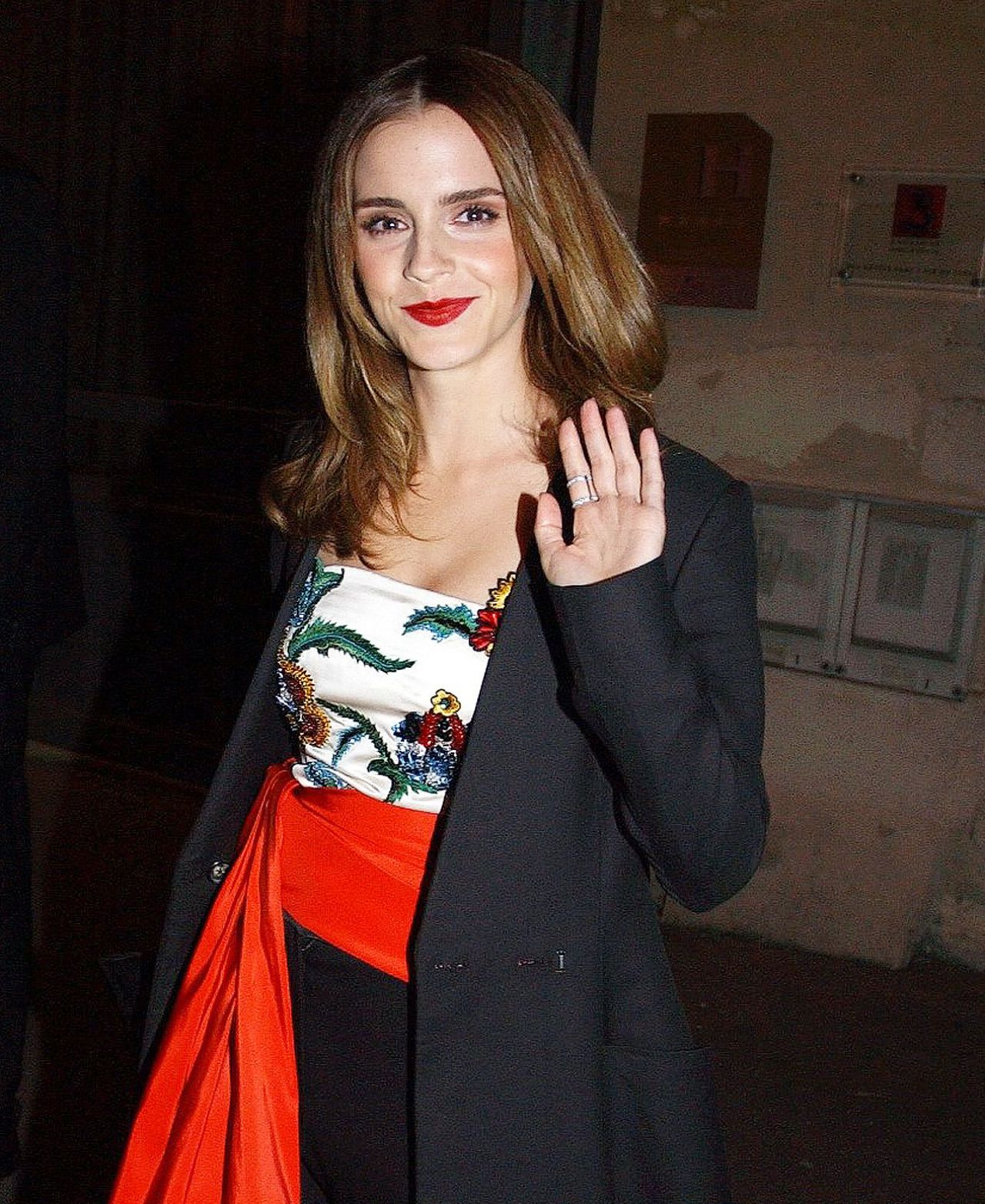 Emma Watson - Heads for Dinner With The Cast of New Film Beauty and the Beast in Paris 2/19/ 2017