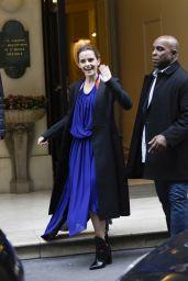 Emma Watson - Leaving Her Hotel in Paris 2/20/ 2017