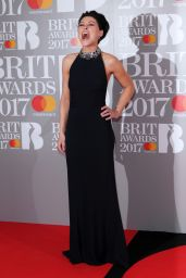 Emma Willis – The Brit Awards at O2 Arena in London 2/22/ 2017