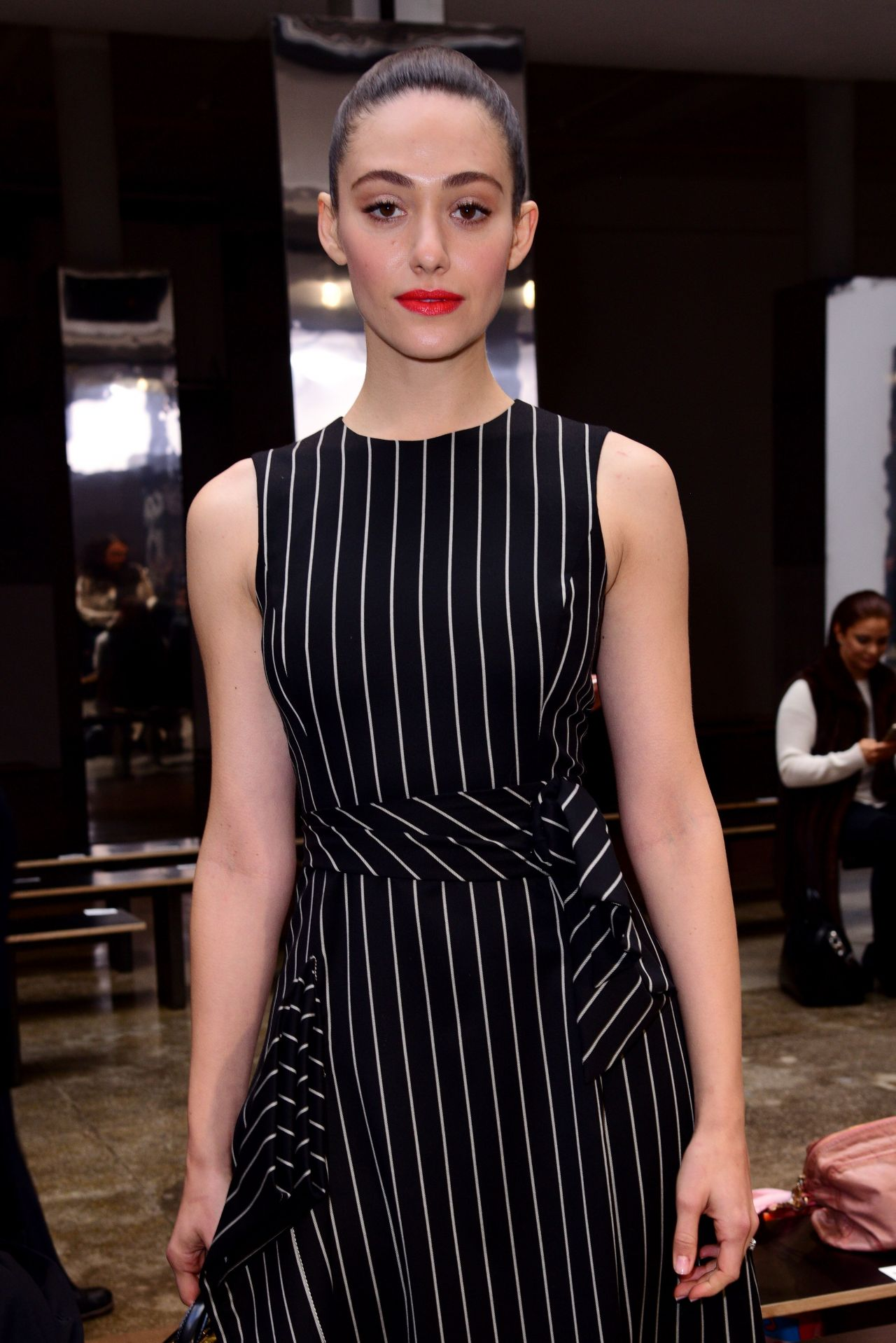 Emmy Rossum - Carolina Herrera Fashion Show in New York 2/13/ 2017