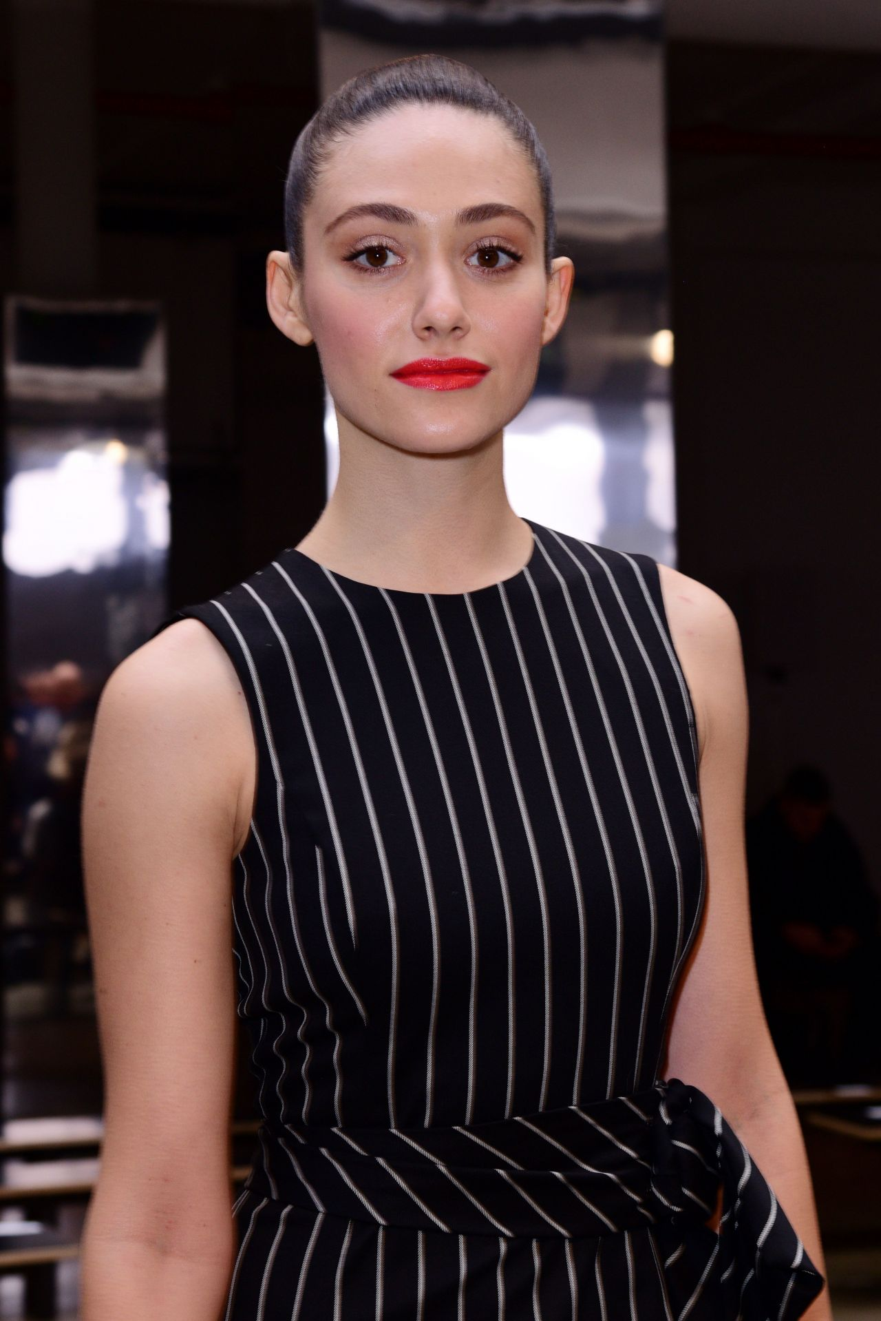 Emmy Rossum - Carolina Herrera Fashion Show in New York 2 ... Emmy Rossum