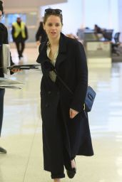 Felicity Jones and Charles Guard - Arrive at JFK Airport in NY 2/27/ 2017