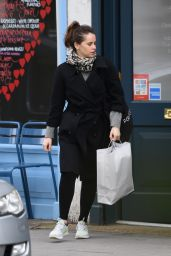 Felicity Jones Casual Style - Out in London, UK 2/16/ 2017