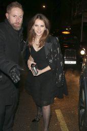 Felicity Jones - Leaving Annabels BAFTAs Pre Party in London 2/12/ 2017