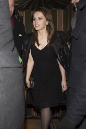 Felicity Jones - Leaving Annabels BAFTAs Pre Party in London 2/12/ 2017