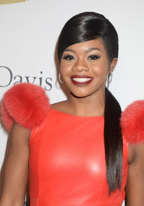 Gabby Douglas on Red Carpet - Clive Davis Pre-Grammy Party in Beverly Hills 2/11/ 2017
