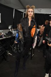 Gigi Hadid - Anna Sui Fashion Show Fall/Winter 2017 - Backstage 2/15/ 2017