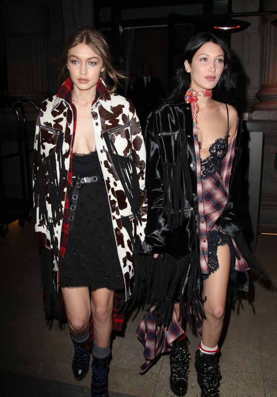 Gigi Hadid & Bella Hadid - Leaving Their Hotel in Milan, Italy 2/22/ 2017