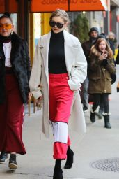 Gigi Hadid is Stylish - Out in Soho 2/13/ 2017